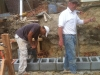 Rob Causey of Causey Masonry giving direction on the work